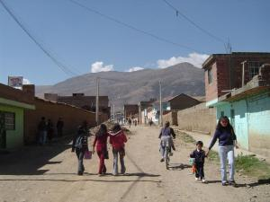 My friend Joni showing me around Huancayo on bicycles!