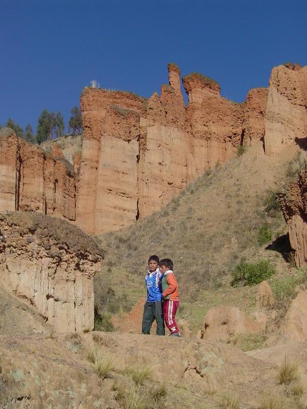 These two young boys were two of our guides to Torre Torre: The Towering Rock Sculptures of Huancayo!