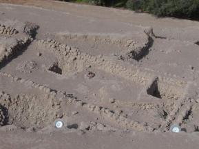 Excavations are still ongoing at the Adobe Pyramid of Huaca Huallamarca in San Isidro district of Lima, Peru.