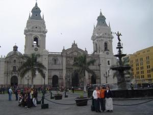The Basilica Cathedral of Lima is one of the main focal points of Plaza Mayor. It is a Roman Catholic cathedral and was constructed in 1535.