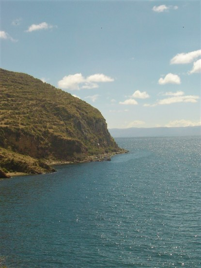 A view of Lake Titicaca from Isla del Sol.