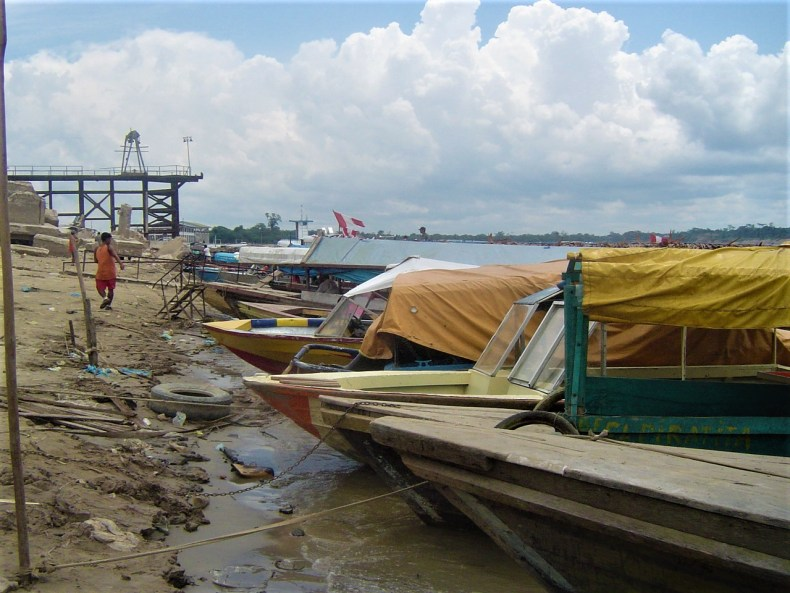 Boats are the main form of transportation to and from Iquitos to the tributaries.