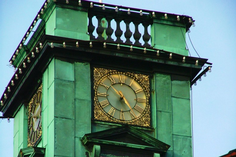 The Kolding City Hall clock tower that is absolutely beautiful.