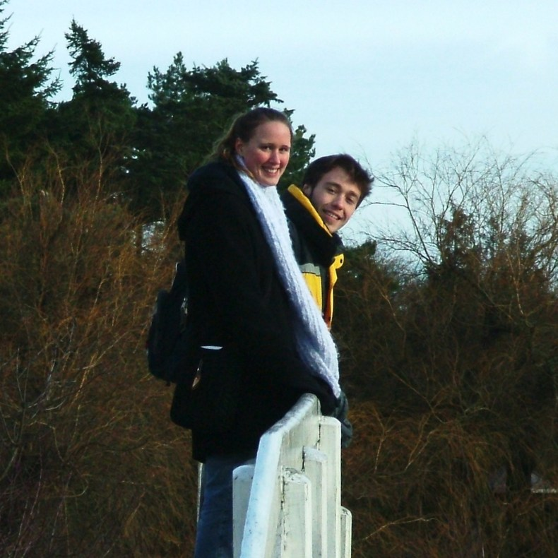 Sarah Beth and Luke enjoying the botanical garden, Geografisk Have, located in Kolding.