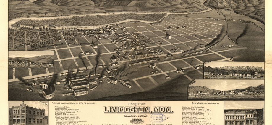 1883 Plat of Livingston, MT