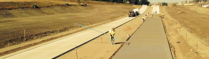 Concrete Construction | Slipform Concrete Paving | Treasure State, Inc. | Belgrade, MT