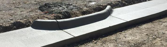 Concrete Construction | Slipform Curb and Gutter | Treasure State, Inc. | Belgrade, MT