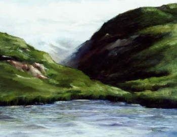 Untitled Landscape, oil on board