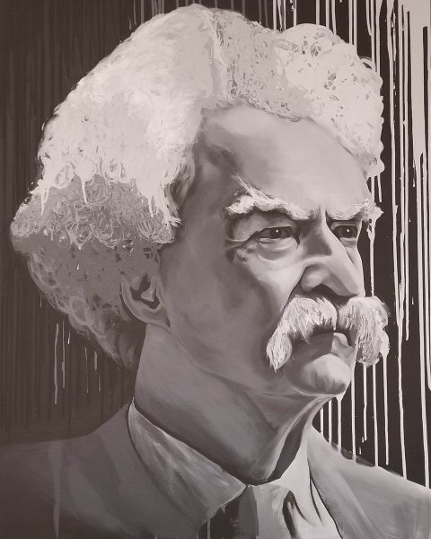 Mark Twain - 3' x 5' acrylic