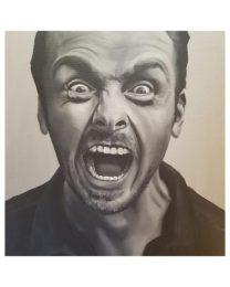 Simon Pegg Rage - acrylic