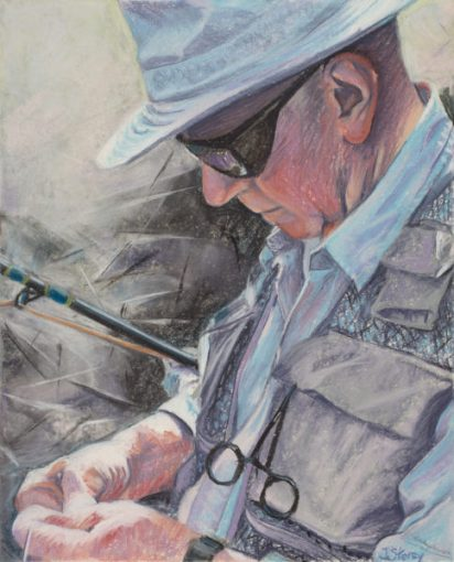 Tying One On, Pastel, 11 x 14