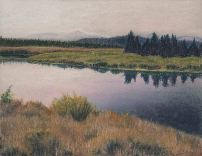 Evening Calm, Pastel, 14 x 11