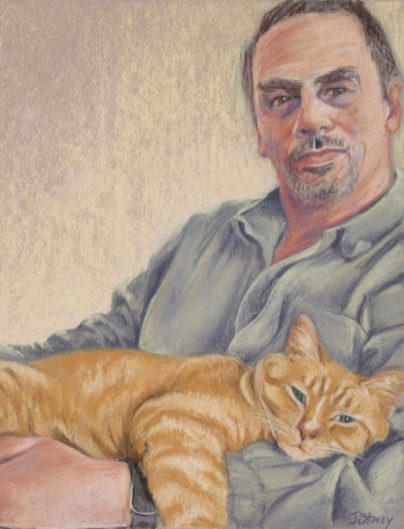 Pat and George, Pastel, 11 x 14