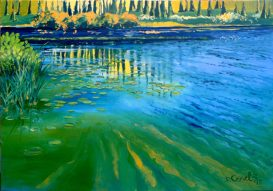 "Pearl Lake Reflections - 24 x 34"" - oil painting"
