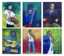 Musician Series A - each oil painting is 7 x 5""