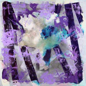 FENCE ME IN PURPLE - 25x25 - Acrylic