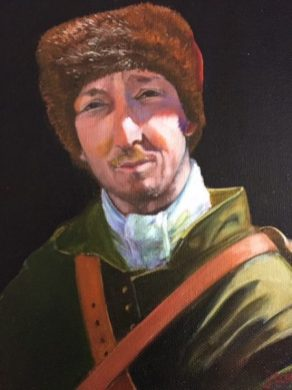 """Man in a Fur Hat"" oil on panel. 8"" x 10"""