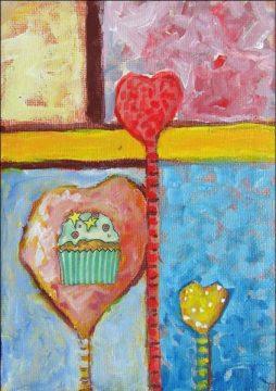 Cupcake Series 10, 5 x 7, acrylic on canvas