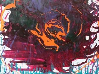 Salmon Ready, acrylic on canvas