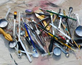 """They Both Take Time, Photograph of my """"work and play"""" tools"""