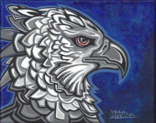 "Harpia Harpyja - acrylic and gouache on canvas - 8"" x 10"""