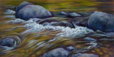 """Naiad's Lullaby, 18"""" x 36"""". oil on canvas"""