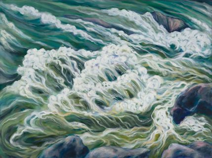 """The Green Rush, 36"""" x 48"""". oil on canvas"""