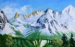 """Thompson Peak. 30""""x 48"""", Oil on canvas"""