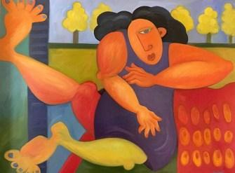 TopsyTurvy, Oil painting, 3X4 feet