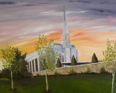 "PrestonTemple, Oil on Canvas, 16""x20"""