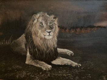 """Noble, Oil on Canvas, 18""""x24"""""""