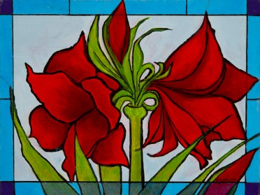 """""""Aristocratic Amaryllis"""", Oil, 9x12"""