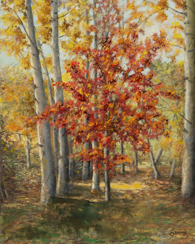 """Autumn Ablaze"", Oil, 16x20"