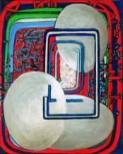 """Haydn"", acrylic, ink on canvas, 14"" x 12"""