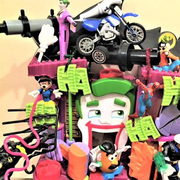 """""""HA HA H"""", Mixed Hanging 3D working clock interactive with sound 18""""X15""""X5"""""""