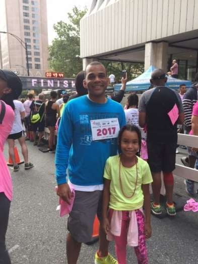 Dr. Jerome Butler and his family at the 2017 Race for the Cure