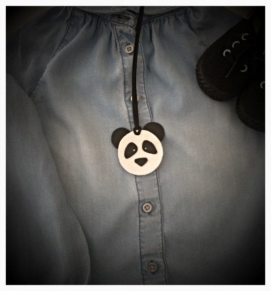 Panda Handmade Leather Necklace