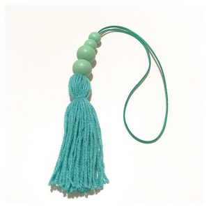 Teal tassel wall hangings