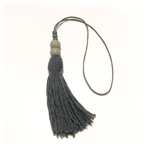 Charcoal tassel wall hangings