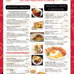 Welcome To Treats Restaurant Breakfast Menu