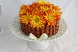 Fall Flower Cake