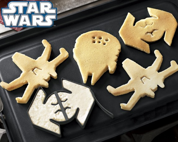 No wait, I actually have these Star Wars Pancake Molds and THESE are the most romantic pancakes.
