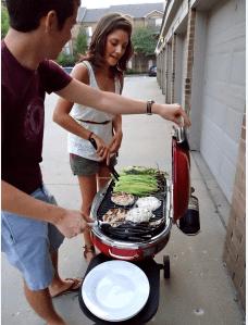 Brian and Tara grilling