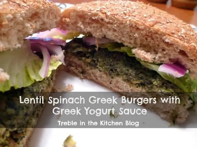 lentil spinach greek burger text