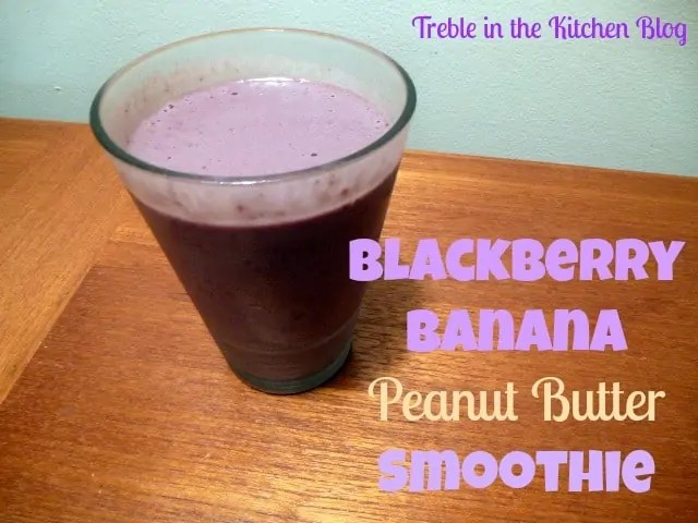blackberry banana pb smoothie text