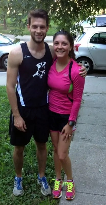 Ben and Tara post run