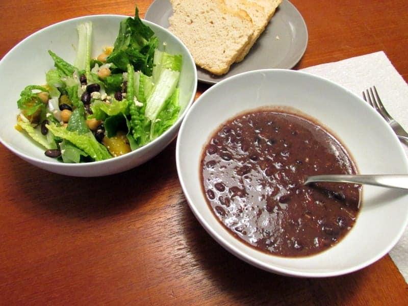 Black bean soup Lunch 1