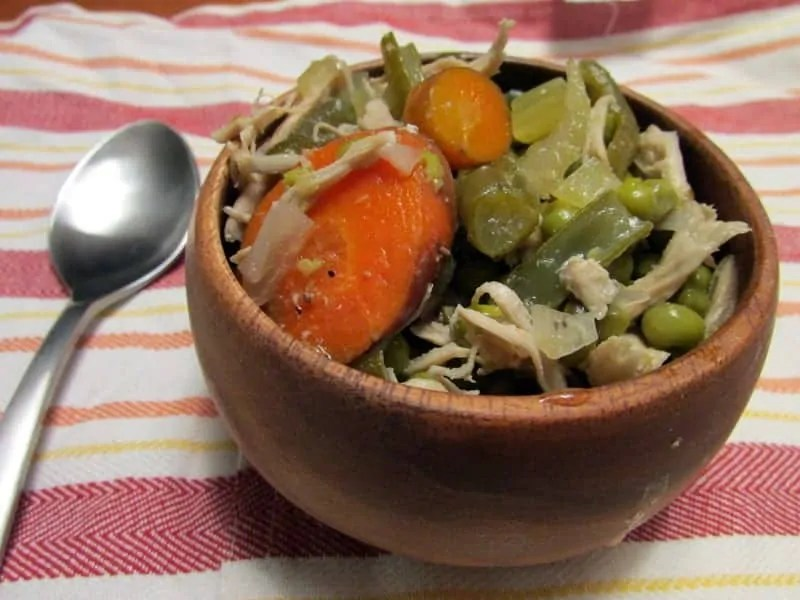 Simple Slow Cooker Chicken Soup via Treble in the Kitchen
