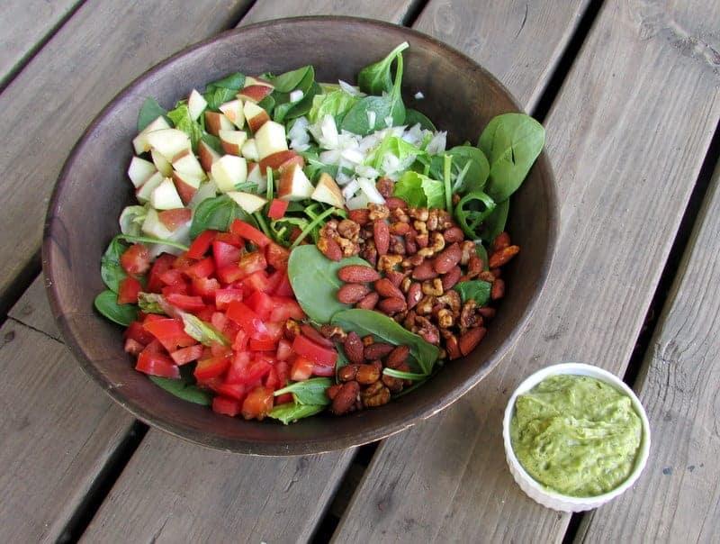 Green Goddess Salad via Treble in the Kitchen
