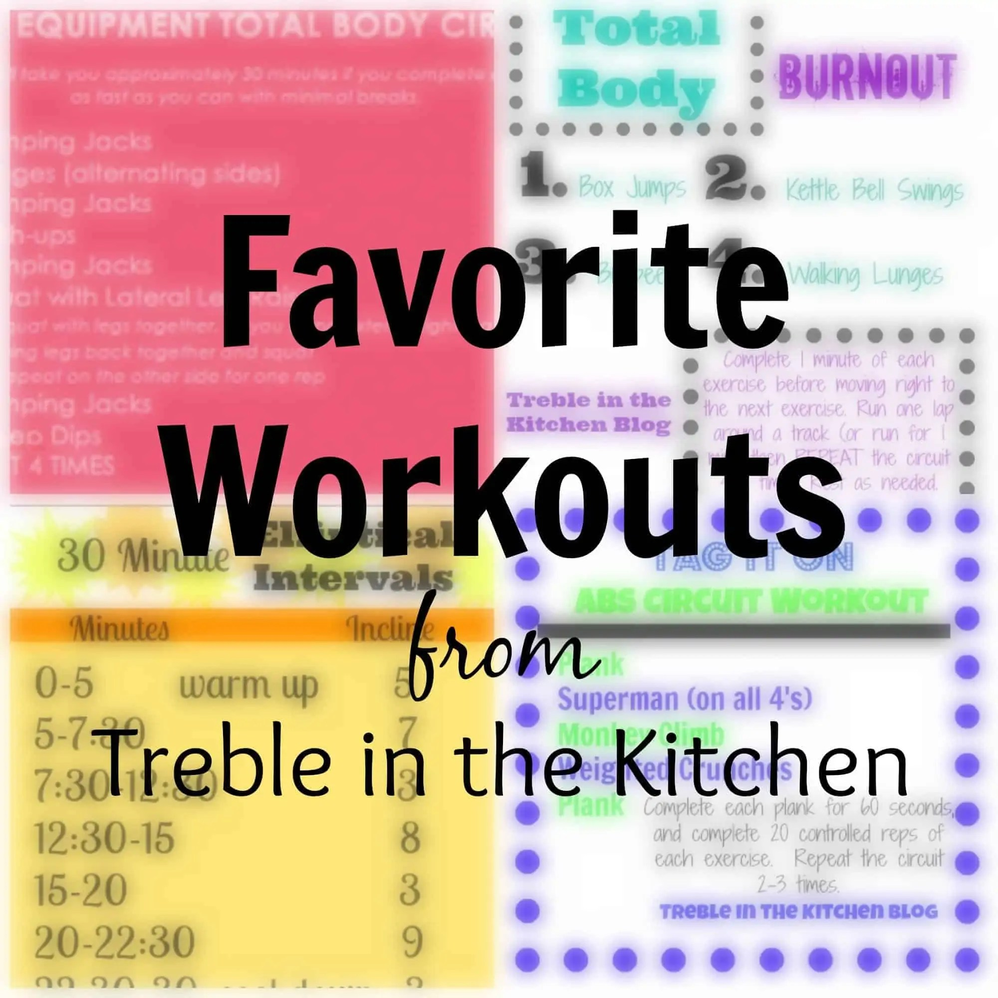 Workout Roundup via Treble in the Kitchen